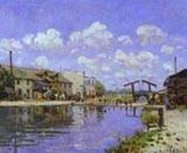 the saint martin canal 1872 XX musee dorsay paris france